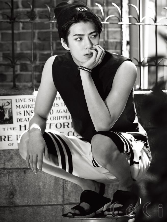 EXO's Chanyeol & Sehun for Ceci Korea August 2015. Photographed by Choi Yongbin