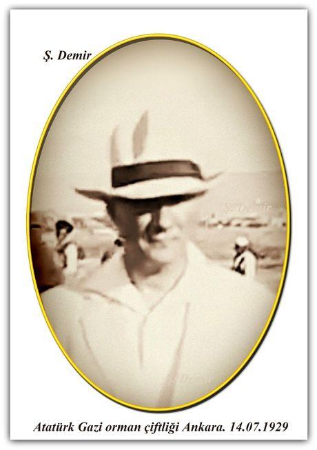Atatürk Gazi orman çiftliği Ankara. 14.07.1929