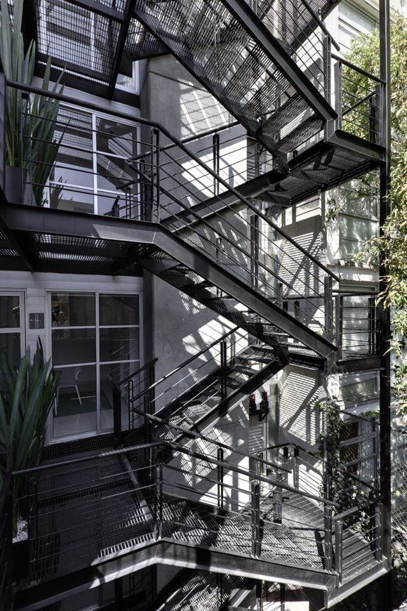 Stairs | LVII residential building, Mexico by Arquitectura en Movimiento |