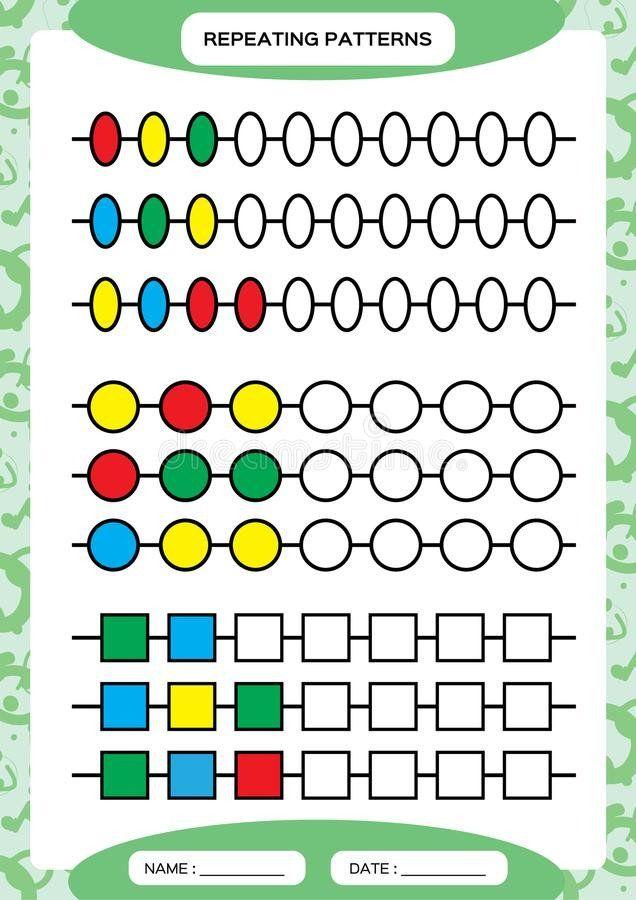 Repeated Pattern Worksheets Plete Repeating Patterns Worksheet For Preschool Ki Planilhas Pre Escolares Atividades De Matematica Pre Escolar Fichas De Trabalho
