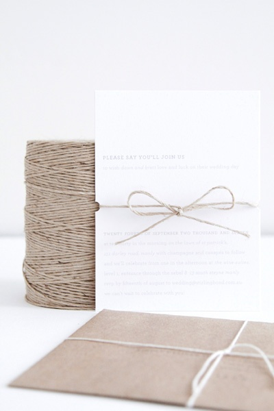 By far one of my favourite invitations ever. Vintage, simple but classic.