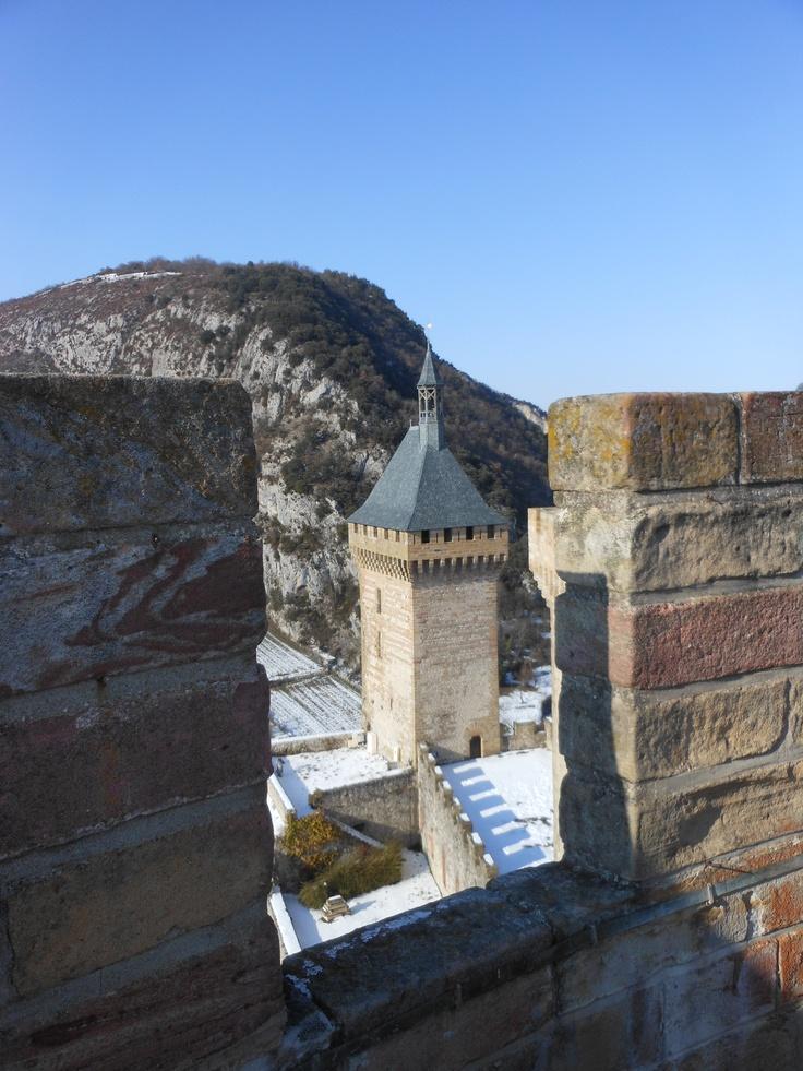 le Château de Foix depuis la Tour Ronde et sous la neige - Foix Ariège-