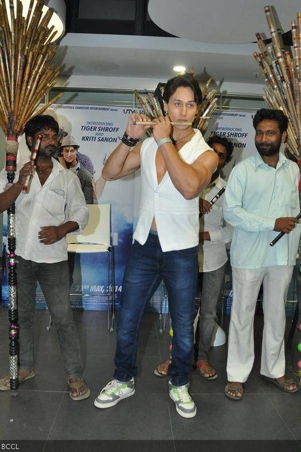 Tiger Shroff during the music launch of the movie Heropanti in Mumbai.