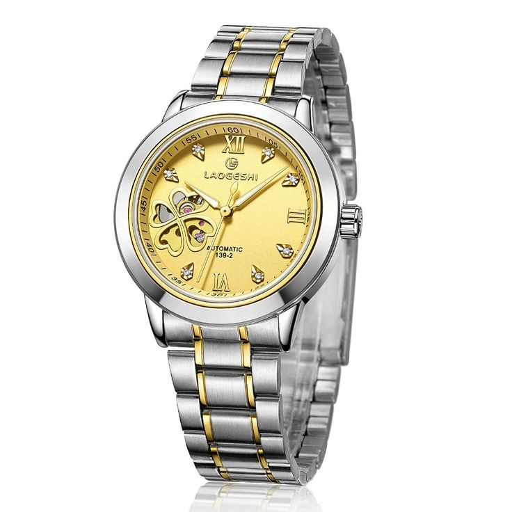 28.48$  Buy now - http://ali44e.shopchina.info/go.php?t=32809197170 - zegarki meskie Mens Watches Top Brand Skeleton Automatic Mechanical waterproof Clock Golden Stainless Steel women wristwatch 28.48$ #SHOPPING