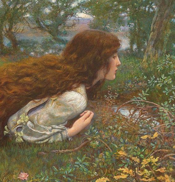 "carminagf: "" The Princess out of School (detail). c1901. Edward Robert Hughes """