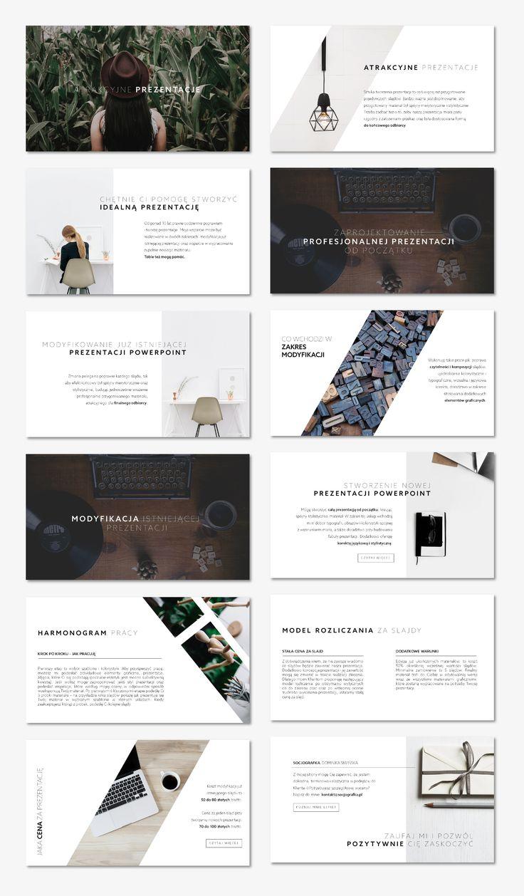 Ten szablon sprawdzi się w wielu sytuacjach – ascetyczne i przejrzyste slajdy pasują do marek i produktów z wielu segmentów rynku. Layout ten nawiązuje do stylu loftowego – minimalistyczne grafiki mają ujednoliconą paletę barw, które uzupełnia prosta, bezszeryfowa typografia.