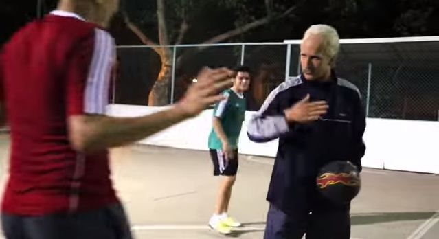 Freestyle champion crashes five-a-side match dressed as old man - embarrasses everyone