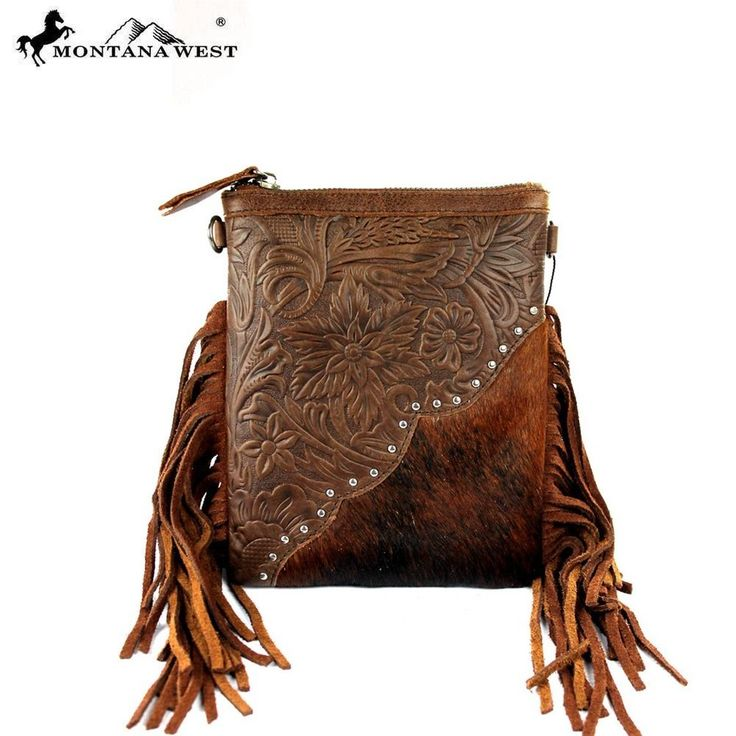 Montana West Handbag Western Style  Cowgirl Bling Purse Coffee crossbody fringe #MontanaWest #MessengerCrossBody