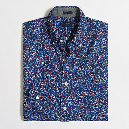 $30 J.Crew Factory  Factory slim printed washed shirt