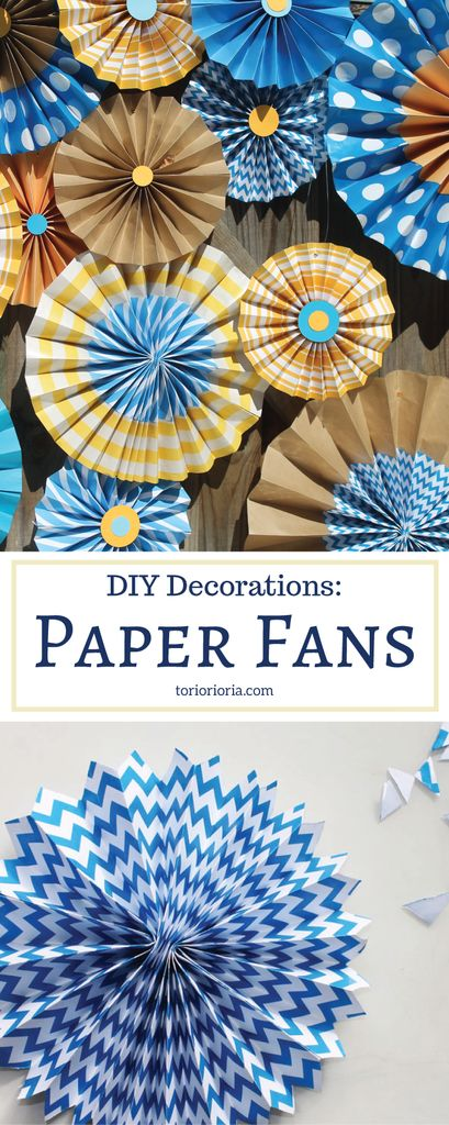 DIY Decorations: Paper Fans (with Free Templates) - Toriorioria