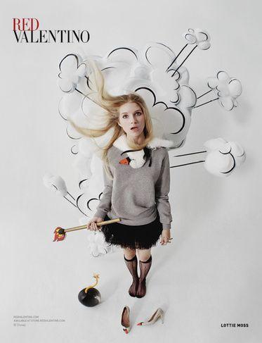 「レッド ヴァレンティノ」、ロティ・モスを新ADビジュアルに起用 - ファッションニュース - 朝日新聞デジタル&w