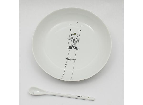 Assiette petit poilu personnalisable, judith Leviant /Pitimana