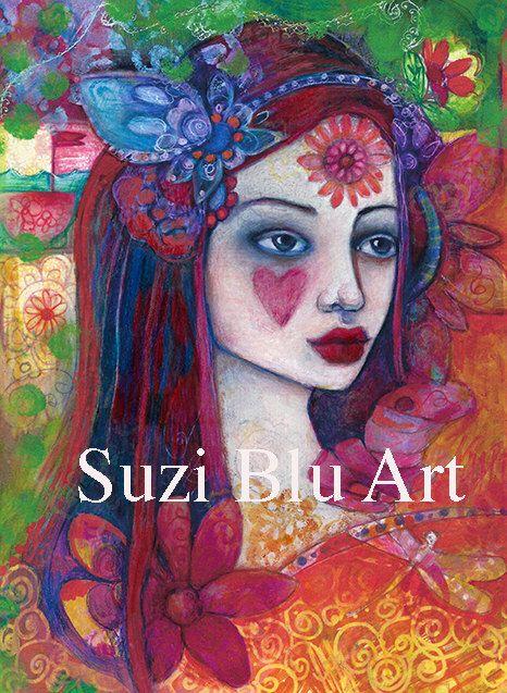 Suzi Blu Virgo Astrology Print of Sun Sign Zodiac Girl by SuziBlu on Etsy https://www.etsy.com/listing/202425196/suzi-blu-virgo-astrology-print-of-sun