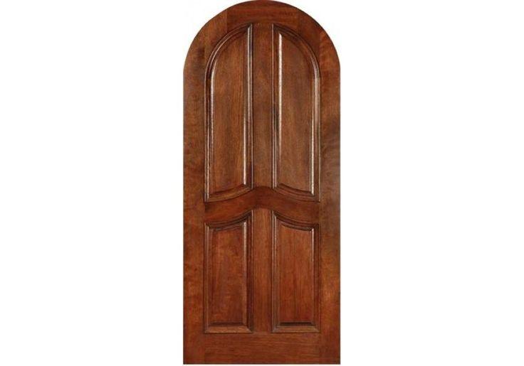 CMA4 Mahogany CMA4 4 Panel Arched With Jamb 1 3 4 Entry Doors P
