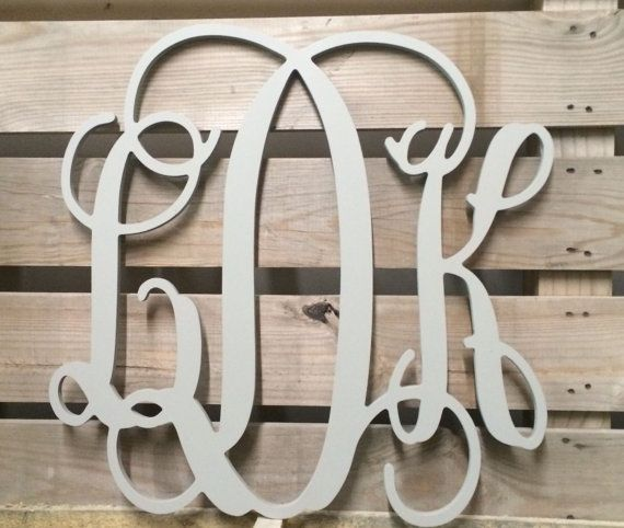 Large Monogram Wooden Letters  Wedding Guest by TheWoodenMonogram