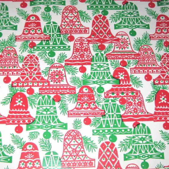 Vintage Christmas Wrapping Paper or Gift Wrap by grandmothersattic