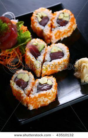 Moederdag # Heart Shaped Sushi - easy to make.