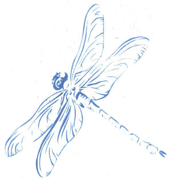 Dragonfly stencil by ~freakstatic on deviantART