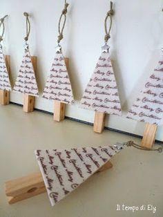 http://iltempodiely.blogspot.it/2012/12/alberelli-segnaposto.html clothepin xmas tree