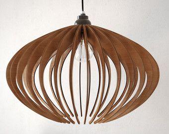 houten hanger licht lasercut kroonluchter lamp van DEZAART op Etsy