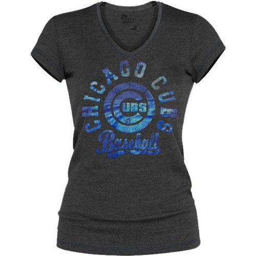Chicago Cubs Metallic Foil Contrast V-Neck T-Shirt $29.95  @Chicago Cubs