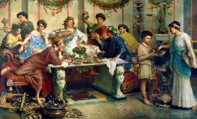 Οι Ρωμαίοι έκαναν εμετό, έτσι ώστε να μπορούν να συνεχίσουν να τρώνε