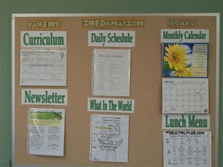 parent info board idea