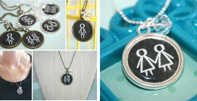 Chalkboard Kids Necklace Choose up to 6 Kids!
