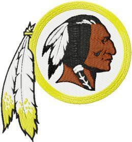 Washington Redskins logo machine embroidery design  $6 embroideres.com