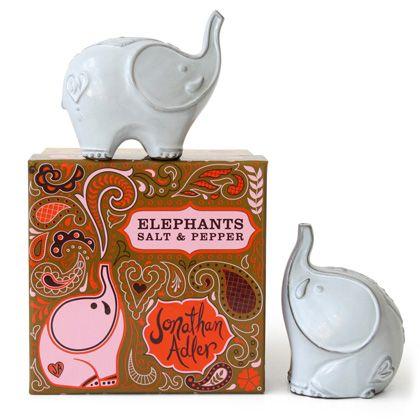 elephants salt and pepperDecor, Kitchens, Salts Peppers Shakers, Gift, Elephant Salts, Salt Pepper Shakers, Adler Elephant, Products, Jonathan Adler