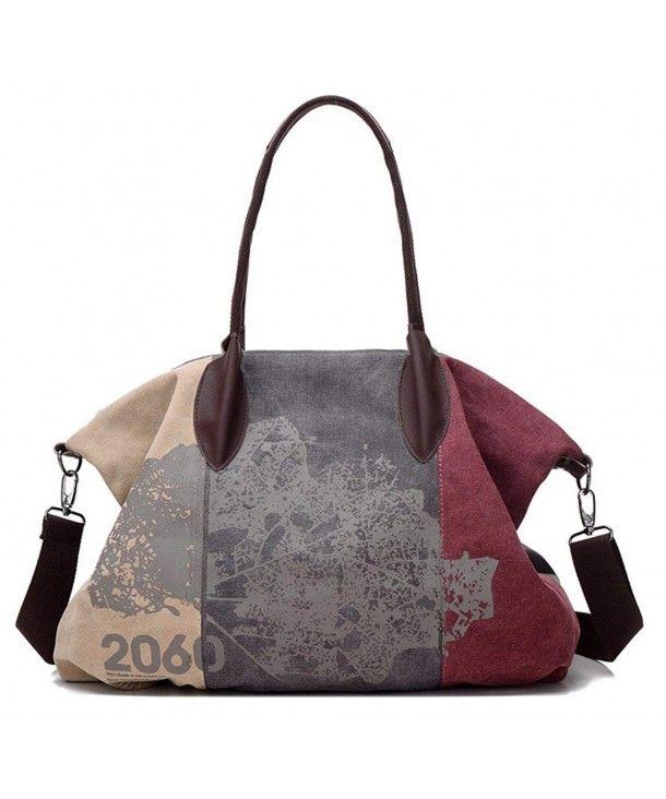 ef4f2691d972 Vintage Canvas Women Messenger Shoulder Bags Big Casual Tote ...