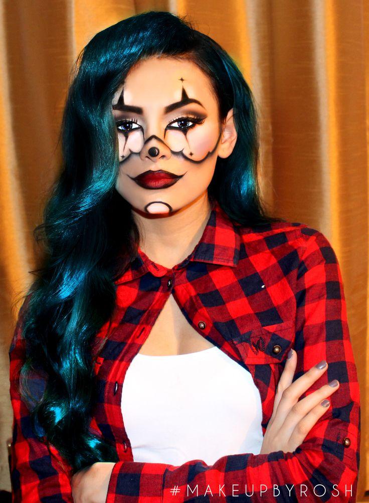 Best 25+ Girl Clown Makeup Ideas On Pinterest | Halloween Clown Dark Halloween Makeup And Black ...