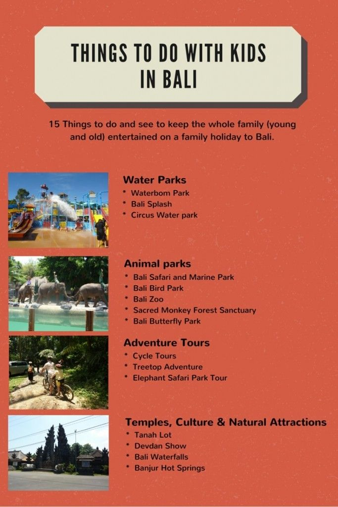 Things to do in Bali with kids and without  http://toddlersontour.com.au/things-bali-kids-infograph/