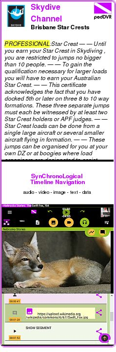 #PROFESSIONAL #PODCAST  Skydive Channel Australia    Brisbane Star Crests    LISTEN...  http://podDVR.COM/?c=a548ebc3-dfdc-ed52-43b1-4247998647d9