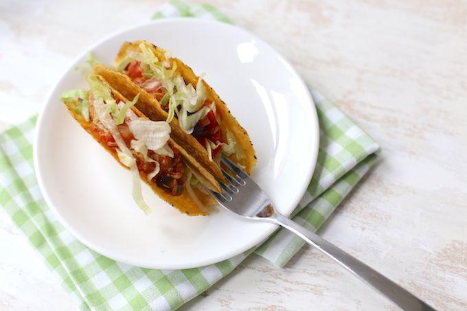 Mexicaanse taco's met kidneybonen en tonijn #mexicaans #oven #25min