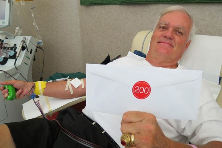 """200 LTD DONOR KENZIE CAMPBELL  Kenzie is a retired programmer for the former Electronic Data Systems Corp. in Fairborn. """"Forty-five years with computers,"""" he said. He remembers donating for the first time when he was starting his career while living in Dallas, Texas.  """"I started giving whole blood,"""" he said. """"But my sister died of breast cancer four years ago.  She used a lot of platelets.  I started apheresis then."""""""
