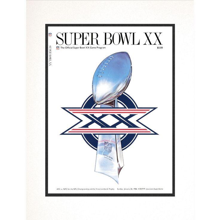 "Fanatics Authentic 1986 Bears vs. Patriots 10.5"" x 14"" Matted Super Bowl XX Program - $23.99"