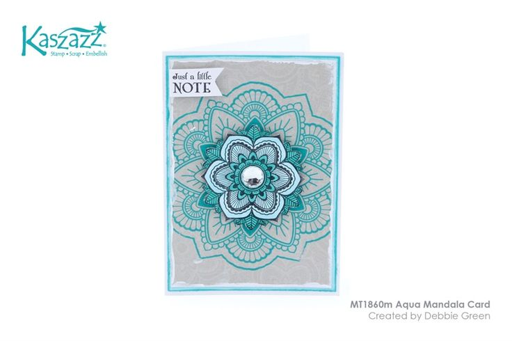 MT1860m Aqua Mandala Card