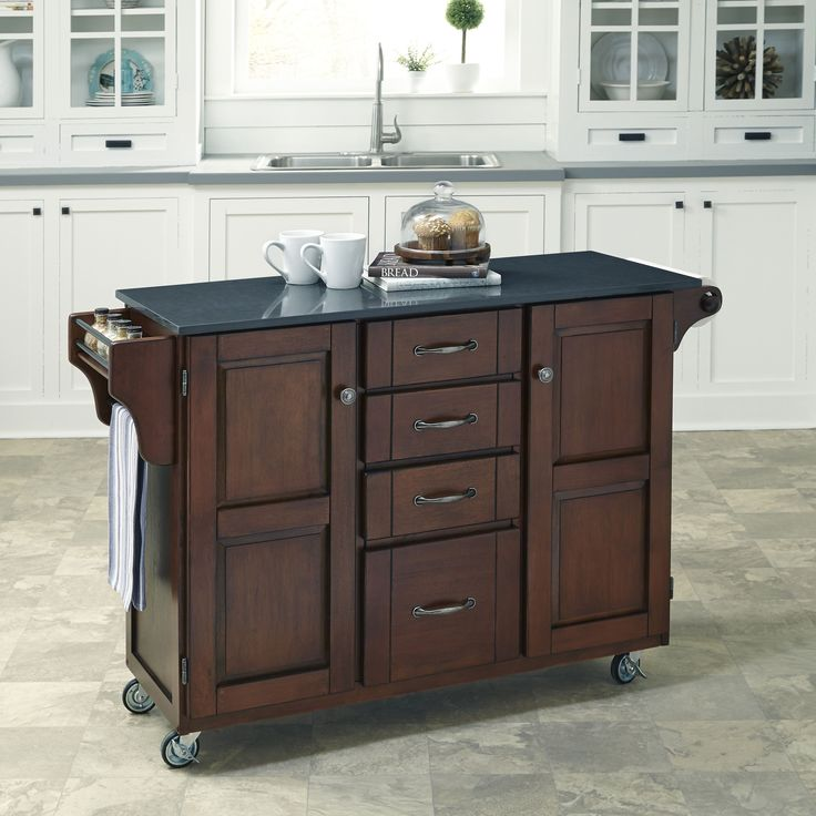 Home Styles Create-a-Cart in Rustic Cherry Finish (Create-a-Cart in Rustic Cherry Finish), Grey