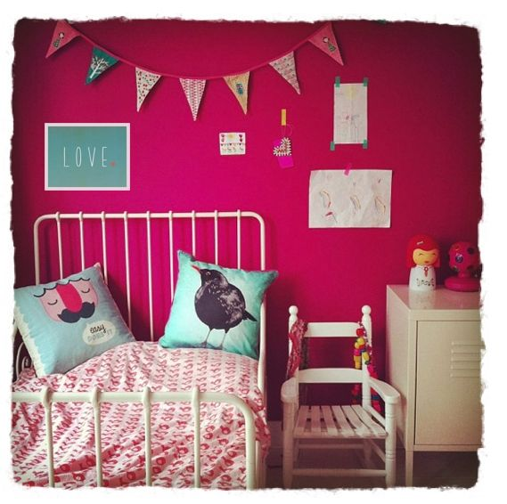 Love this color for a little girls room with other walls being a light grey or light taupe color