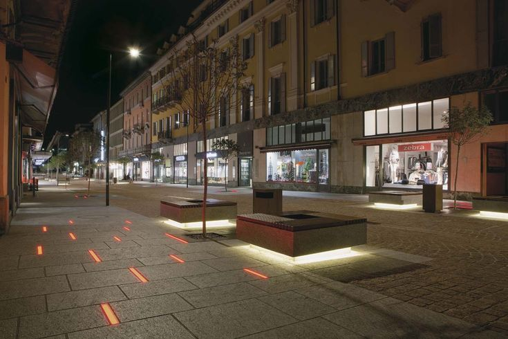 Illuminazione pubblica a LED per Bellinzona lighting design Stefano Dall'Osso 02