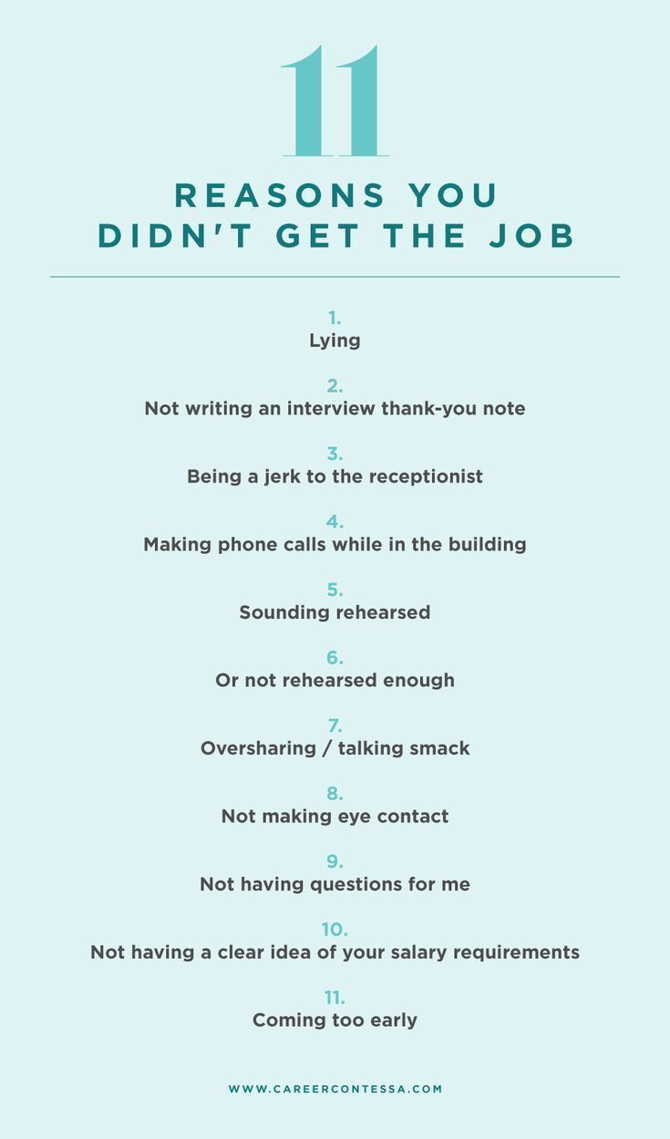 11 Reasons You Didn't Get the Job