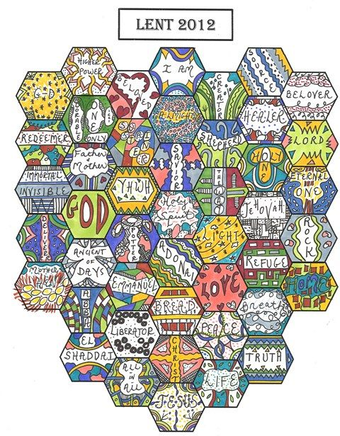 praying in color. this is wonderful.: Lenten Calendar, Finals Lenten, 2013, Honeycombs Ideas, Color, Finals Resiz, Favorite Books, Calendar 2012, 2012 Finals