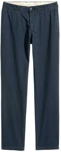 H&M - Chinos Slim fit - Dark blue - Men