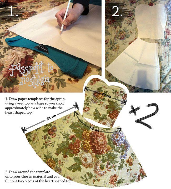 yeh!blog: DIY Vintage Style Apron