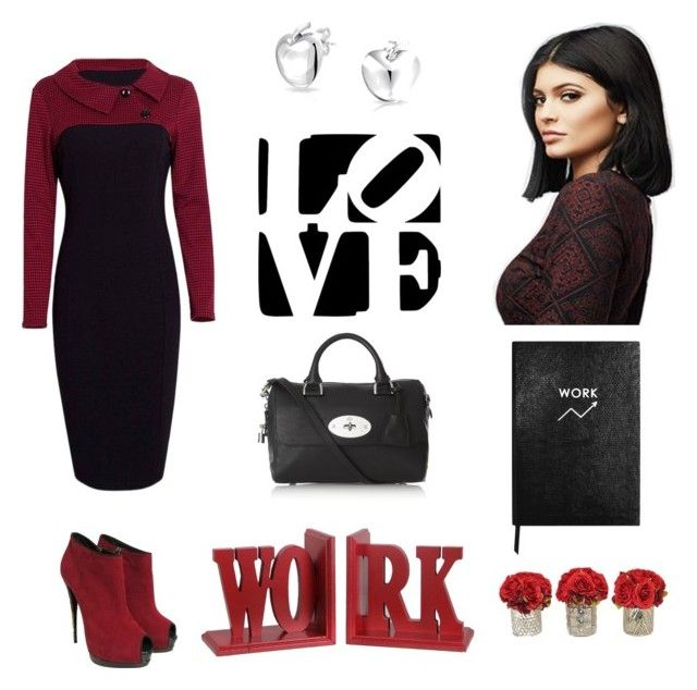 Love Work by rosehage on Polyvore featuring polyvore, fashion, style, PacSun, Giuseppe Zanotti, Mulberry, Bling Jewelry, Privilege, Sloane Stationery, women's clothing, women's fashion, women, female, woman, misses and juniors
