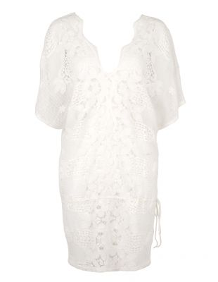 MIGUELINA White Lace Katya Cover Up