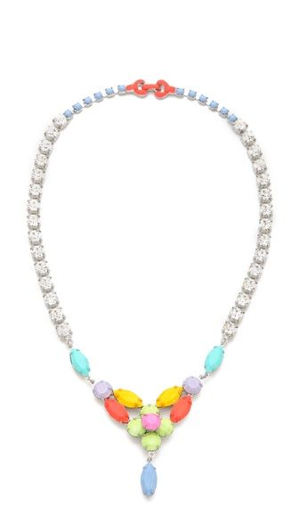 // TOM BINNS Soft Power Flower Bib Necklace