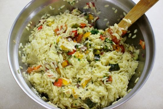 olgas flavor factory -orzo with roatsed veggies