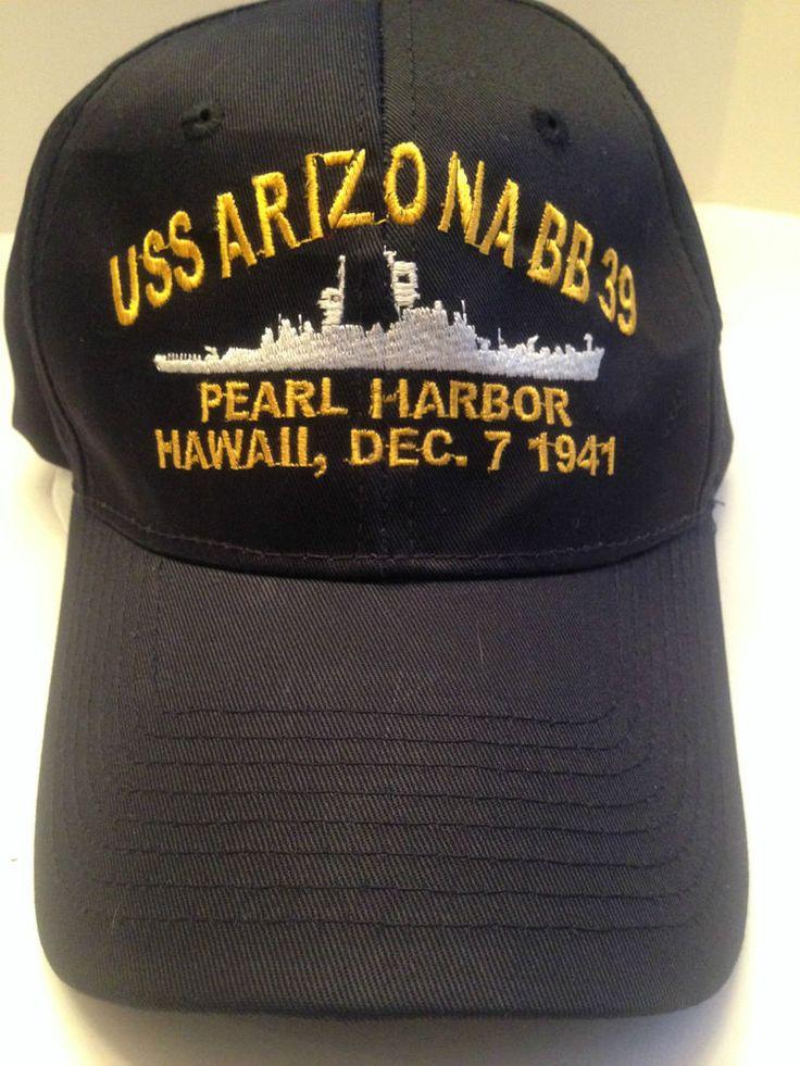 USN USS ARIZONA BB-39 PEARL HARBOR HAWAII DEC 7 1941 MILITARY CAP VELCRO CLOSE  #BaseballCap